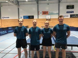 B-laget (fra venstre: Marius, Jonas, Pia og Arild)